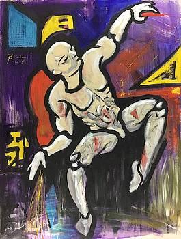 Seated Man Dancing by Ricardo Penalver