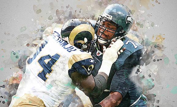 Seattle Seahawks against Los Angeles Rams by Nadezhda Zhuravleva