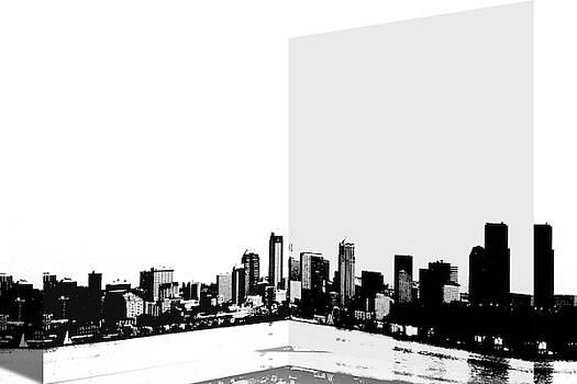 Seattle Skyline Folded  by Marie Jamieson