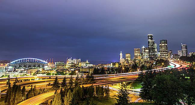 Seattle Skyline by Jordan Hill