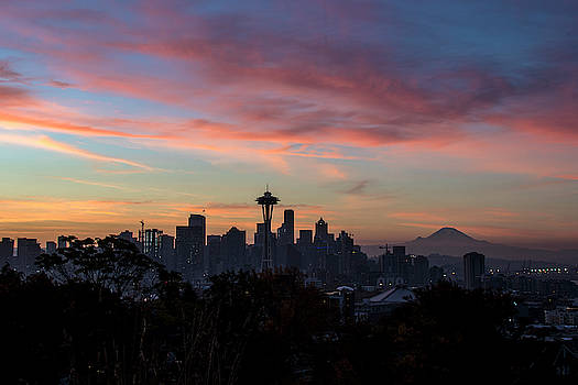 Seattle Sunrises From Kerry Parl by Matt McDonald
