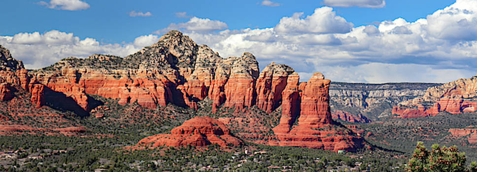 Sedona Airport Mesa Panoramic View by David T Wilkinson