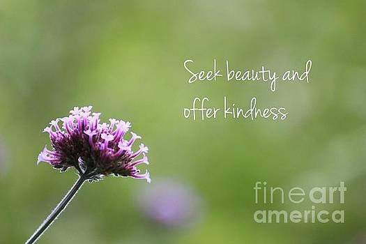 Seek Beauty and Offer Kindness by Kristi Cromwell