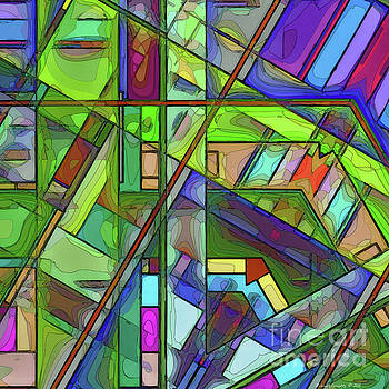 Segmented Abstract No5 AMCG-20181018 by Michael Geraghty