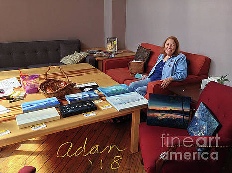 Felipe Adan Lerma - Self Portrait 15 - Sheila Helping Deliver My Images to Art Hop 2018