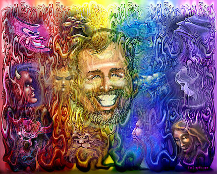Self Portrait as Interwoven Spectrum of Emotions by Kevin Middleton