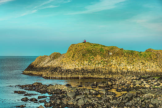 Selfie at Ballintoy by Alan Campbell