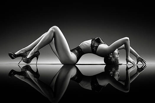 Sensual woman with lingerie by Johan Swanepoel
