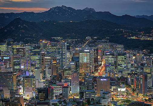 Seoul at Night by Rick Berk