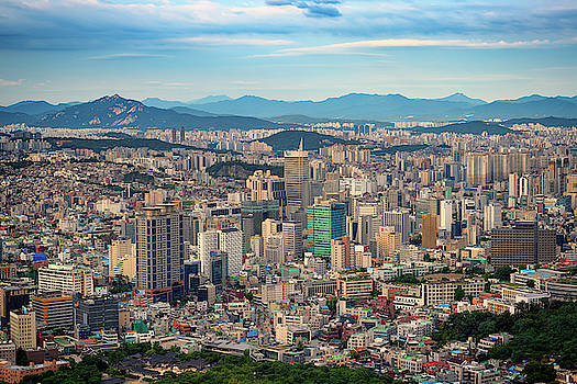 Seoul in Afternoon Light by Rick Berk