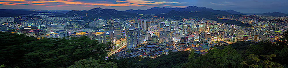 Seoul South Korea Panorama by Rick Berk