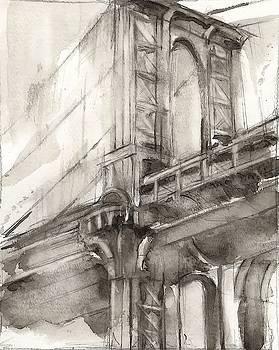Sepia Bridge Study I Wall Art by Ethan Harper