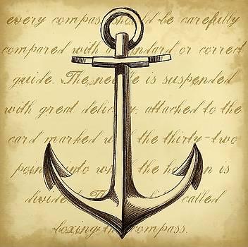 Sepia Captain s Anchor Wall Art by Ethan Harper