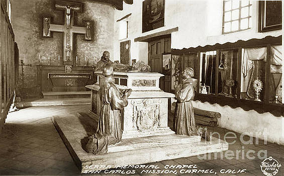 California Views Archives Mr Pat Hathaway Archives - Serra Memorial cenotaph in the Serra Chapel Circa 1936
