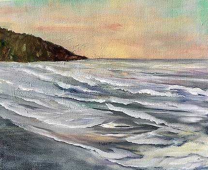 Sun Setting Waves by Chuck Gebhardt
