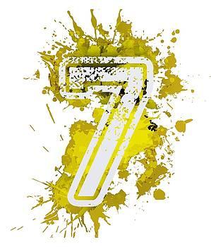 Seven over yellow stain by Alberto RuiZ