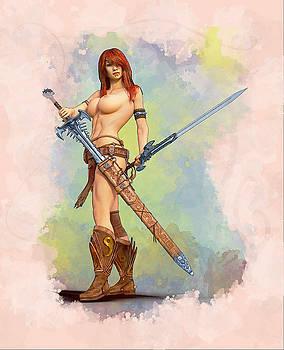 Sexy Warrior Women by Alan Thompson