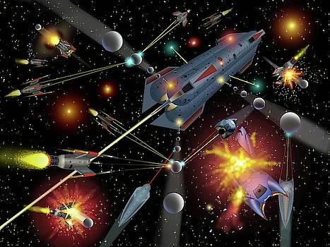 Sferogyls Space Battle Group by Dumitru Sandru