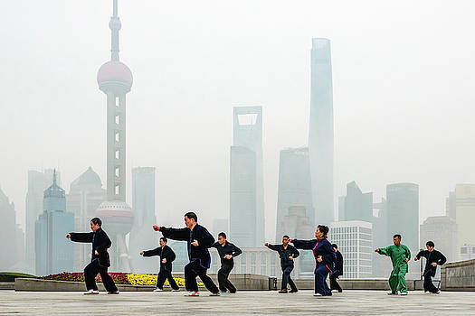 Shanghai Morning Tai Chi by Ian Robert Knight