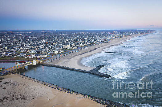 Shark River Inlet from above  by Michael Ver Sprill
