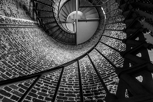 She Stares up the Stairs by Peter Tellone