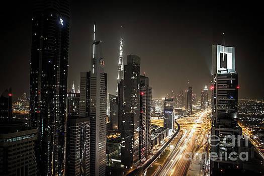Sheikh Zayed Road in Dubai by Habashy Photography