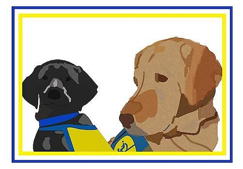 Shelly with Black Puppy by Caroline Elgin