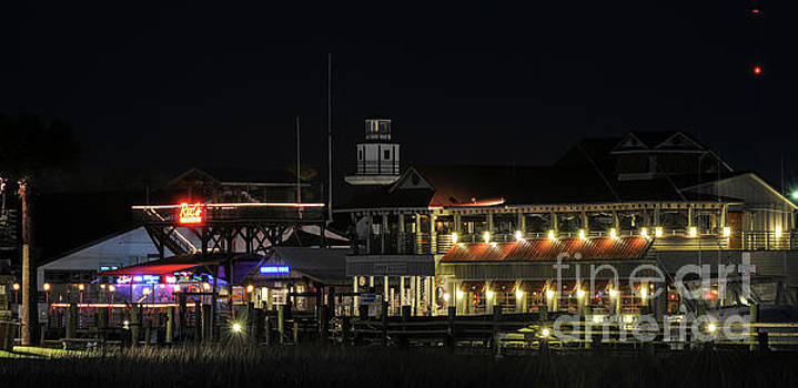 Dale Powell - Shem Creek at Night - Mount Pleasant