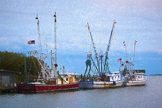 Shem Creek Boats III by Jon Glaser