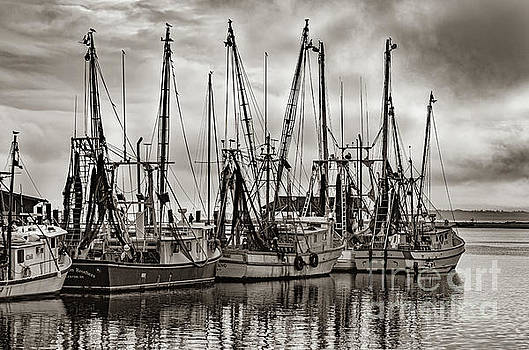 Shem Creek Saltwater Cowboys in Sepia by Dale Powell
