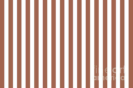 Sherwin Williams Cavern Clay SW7701 Uniform Stripes Fat Vertical Lines by Melissa Fague