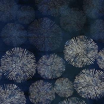 Shibori Sea Urchin Burst Pattern Dark Denim by Sand And Chi
