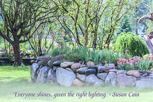 Shining Light - Motivational Water Art by Omaste Witkowski by Omaste Witkowski