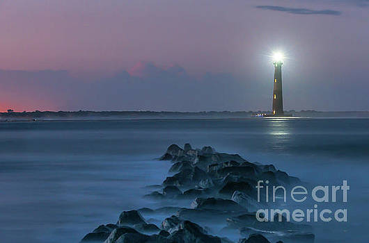 Dale Powell - Shining though the Darkness - Morris Island Lighthouse