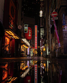 Shinjuku back alley by Nate Richards