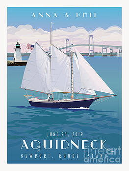 Ship Aquidneck Newport, RI by Leslie Alfred McGrath