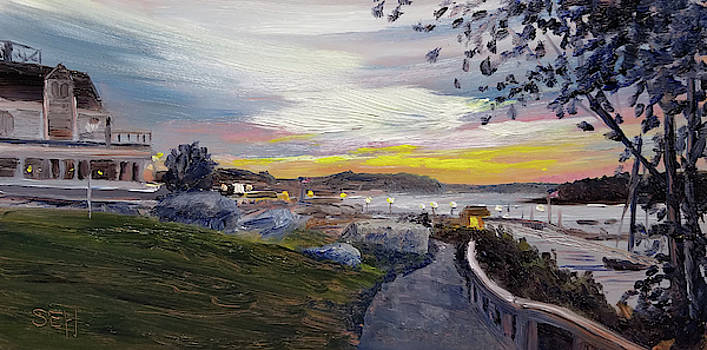 Shore Path Twilight by Susan E Hanna