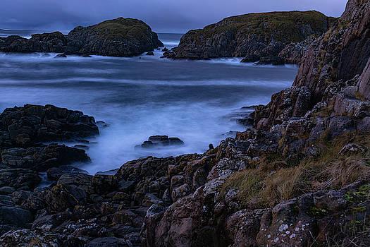 Shoreline in dark scenary by Kai Mueller