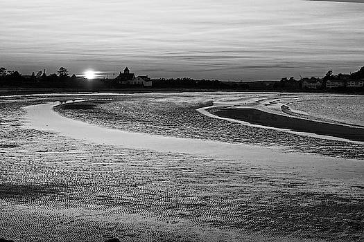 Toby McGuire - Short Beach Sunset Nahant MA Black and White