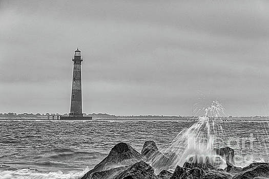 Dale Powell - Shouthern Charleston Salty Shores - Morris Island Lighthouse
