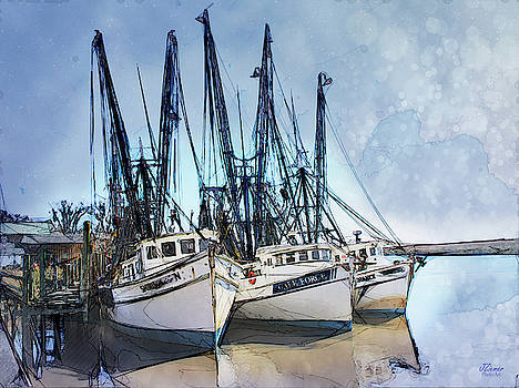 Shrimp Boats at Darien by Jim Ziemer