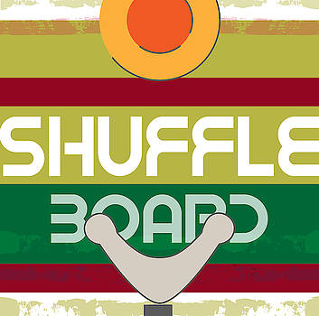 Shuffle Board Game Art by Claire Tingen