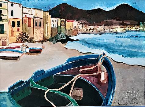 Sicilian Fishing Village by Roseann Amaranto