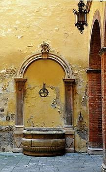 Sienna Fountain Courtyard by Susie Rieple