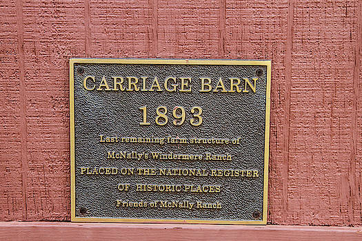 Sign on Carriage House by Robert Hebert