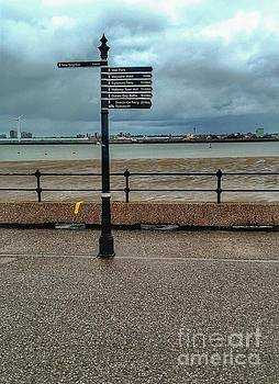 Signpost of New Brighton Promenades  by Joan-Violet Stretch