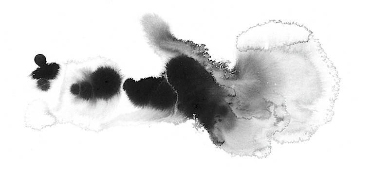 Silent - Abstract Ink Painting by Modern Art Prints