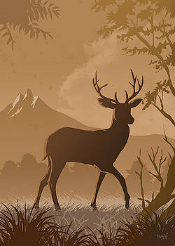 Silhouette Deer by Anthony Mwangi