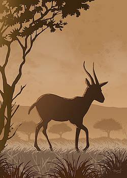 Silhouette Gazelle by Anthony Mwangi