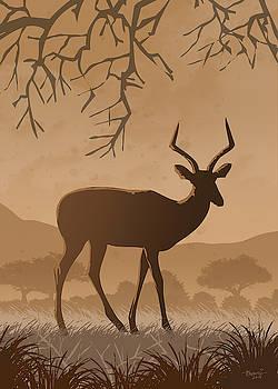 Silhouette Impala by Anthony Mwangi